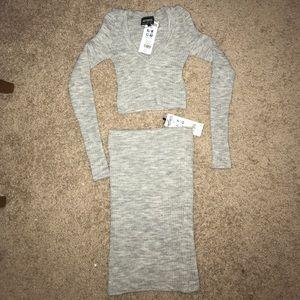 NWT HOT!MESS sweater dress 2 piece set
